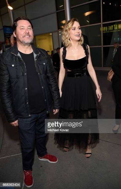 Comedian Doug Benson and actress Brie Larson attend The Los Angeles Premiere Of 'Free Fire' Presented By Casa Noble Tequila on April 13 2017 in Los...
