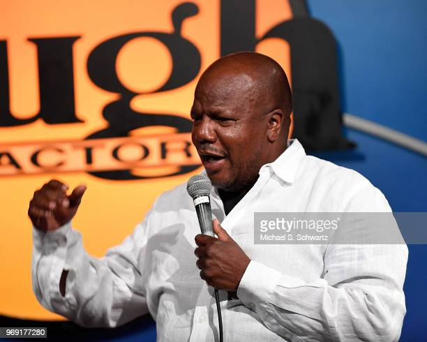 Comedian Earthquake performs at the SarcomaOma Foundation Comedy Benefit at The Laugh Factory on June 6 2018 in West Hollywood California