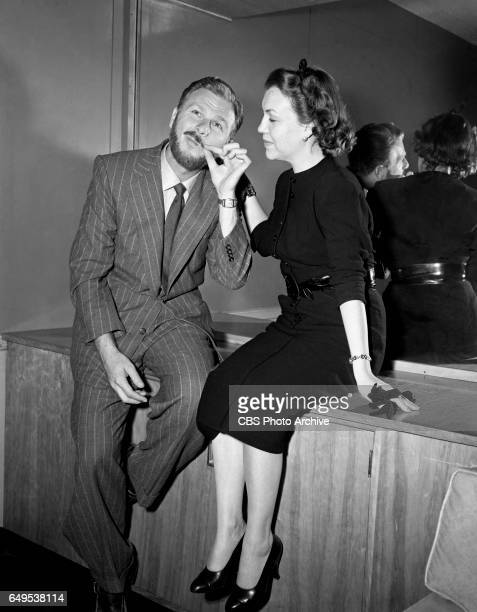 Comedian Eddie Albert pictured here with his wife Margo as they arrive at Idlewild Airport New York from Rome The Eddie Albert television show Leave...