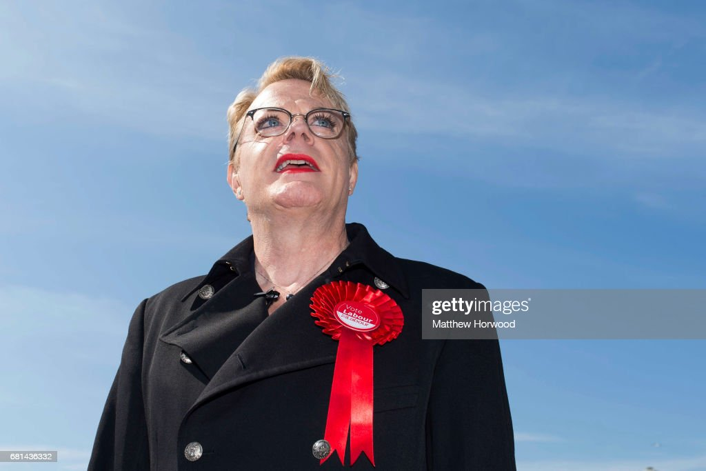 Comedian Eddie Izzard Campaigns For Labour In Cardiff