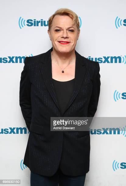 Comedian Eddie Izzard poses for photos before a SiriusXM 'Town Hall' event with SiriusXM host Ron Bennington at SiriusXM Studios on June 14 2017 in...
