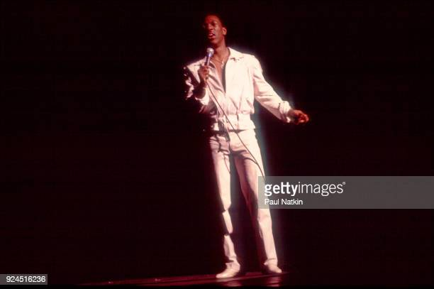 Comedian Eddie Murphy performs at the Auditorium Theater in Chicago, Illinois, August 5, 1983.