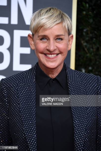 Comedian Ellen DeGeneres arrives for the 77th annual Golden Globe Awards on January 5 at The Beverly Hilton hotel in Beverly Hills, California.