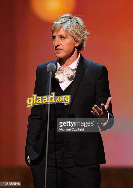 Comedian Ellen DeGeneres at the 19th Annual GLAAD Media Awards on April 25, 2008 at the Kodak Theatre in Hollywood, California.