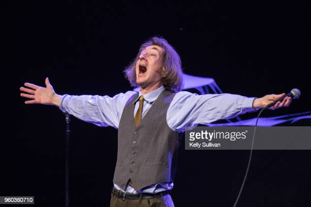 Comedian Emo Philips performs onstage at the Fox Theater during 'Weird Al' Yankovic's 'Ridiculously SelfIndulgent IllAdvised Vanity Tour' on May 19...