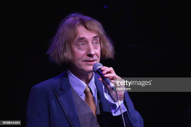 Comedian Emo Philips performs onstage during the Moontower Comedy Festival at the Paramount Theatre on April 21 2018 in Austin Texas