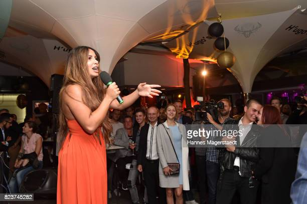Comedian Enissa Amani during the H'ugo's 10th birthday celebration party at Hugo's on July 27, 2017 in Munich, Germany.