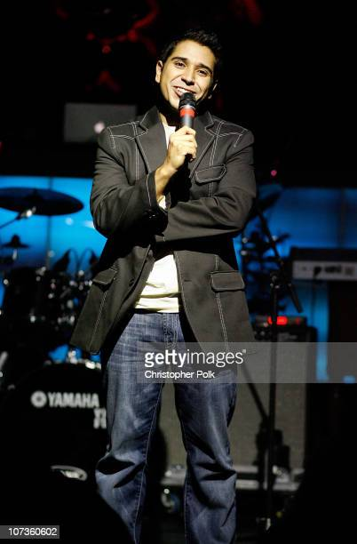 Comedian Erik Rivera performs during 'Playing for Laughs' A Benefit to Build a Playground for the Junius Street Women In Need Shelter at Pacha...
