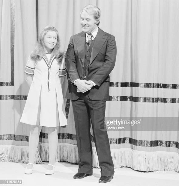 Comedian Ernie Wise and singer Lena Zavaroni in a sketch from the BBC television series 'The Morecambe and Wise Show', February 4th 1970.