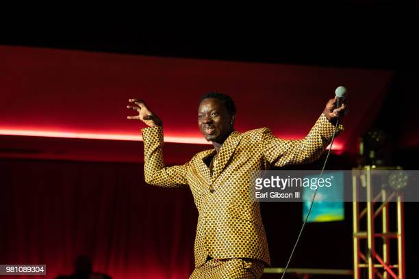 Comedian Esau performs at Chris Spencer Friends PreBET Awards Comedy Show at The Savoy Entertainment Center on June 21 2018 in Inglewood California