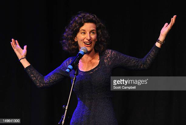 Comedian Felicity Ward performs at the Underbelly Press Launch at the Edinburgh Festival Fringe on August 1 2012 in Edinburgh Scotland