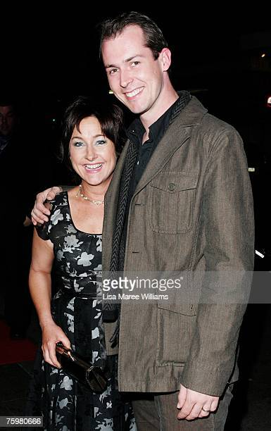Comedian Fiona O'Loughlin and Mike Mcleish attend the 2007 Helpmann Awards at the Capitol Theatre on August 6 2007 in Sydney Australia