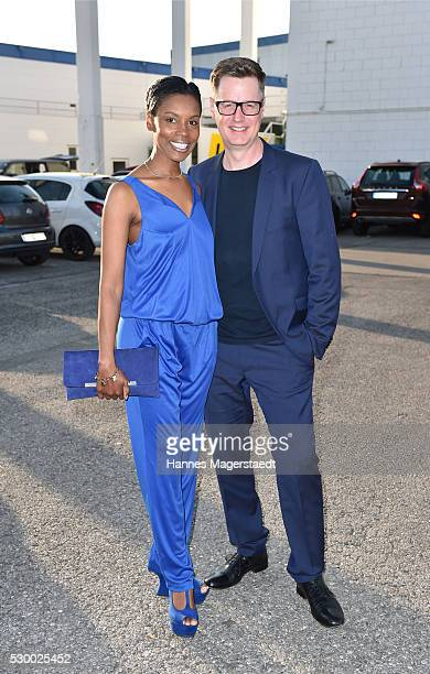 Comedian Florian Simbeck and his wife Stephanie Simbeck during the VDMD Secret Fashion Show at ars24 on May 9 2016 in Munich Germany