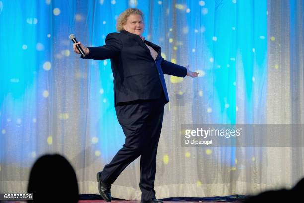 Comedian Fortune Feimster performs on stage during the ninth annual PFLAG National Straight for Equality Awards Gala on March 27, 2017 in New York...