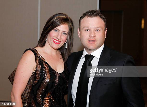 Comedian Frank Caliendo and Michele Caliendo attend Muhammad Ali's Celebrity Fight Night XXI at the JW Marriott Phoenix Desert Ridge Resort Spa on...