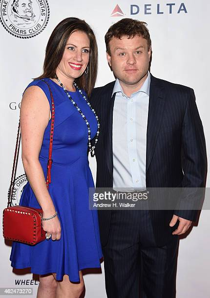 Frank Caliendo with cheerful, Wife Michele Caliendo