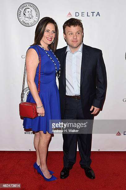 Comedian Frank Caliendo and Michele Caliendo attend the Friars Club Roast of Terry Bradshaw during the ESPN Super Bowl Roast at the Arizona Biltmore...