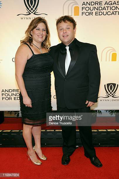 Comedian Frank Caliendo and wife arrive at the 14th annual Andre Agassi Foundation for Education's Grand Slam for Children benefit concert at Wynn...