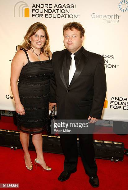 Comedian Frank Caliendo and wife Michele Caliendo arrive at the 14th annual Andre Agassi Charitable Foundation's Grand Slam for Children benefit...