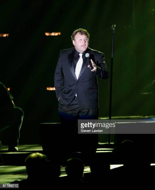 Comedian Frank Callendo performs at the 14th annual Andre Agassi Charitable Foundation's Grand Slam for Children benefit concert at the Wynn Las...