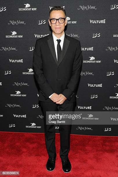 Comedian Fred Armisen attends as IFC New York Magazine and Vulture host the premiere of Documentary Now at the New Museum on September 12 2016 in New...