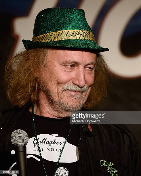 Comedian Gallagher performs during his appearance at The Ice House Comedy Club on May 23 2014 in Pasadena California