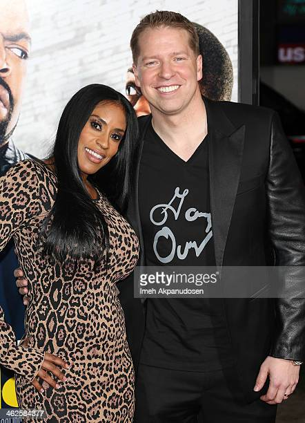 Comedian Gary Owen and his wife Kenya Duke attend the premiere of Universal Pictures' 'Ride Along' at TCL Chinese Theatre on January 13 2014 in...