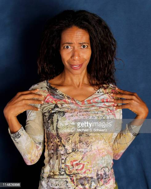 Comedian Gayla Johnson poses during her appearance at The Ice House Comedy Club on May 26 2011 in Pasadena California