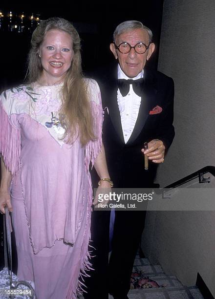 Comedian George Burns and girlfriend Cathy Carr attend the St Jude Children's Research Hospital Annual Benefit Gala on September 5 1987 at Century...