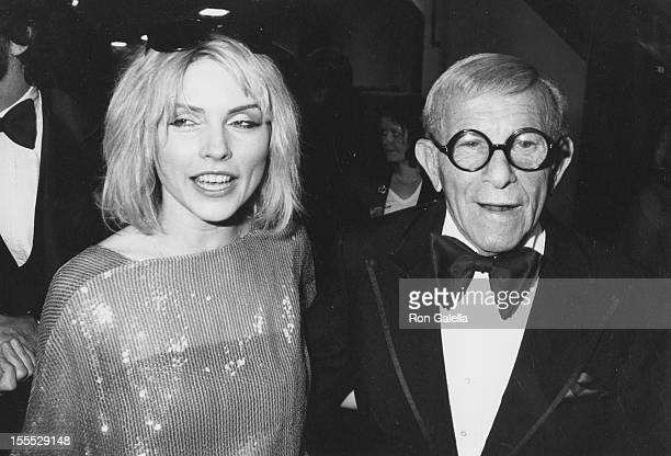 Comedian George Burns and musician Debbie Harry attending 22nd Annual Grammy Awards on February 27 1980 at the Shrine Auditorium in Los Angeles...