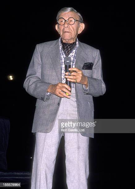 Comedian George Burns attends the George Burns and Bob Hope Comedy Stage Show Billed ''Burns and Hope, 179 Years of Comedy'' on October 1, 1989 at...