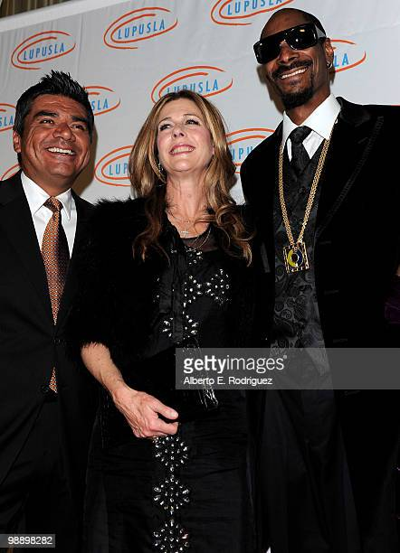 Comedian George Lopez actress Rita Wilson and rapper Snoop Dogg arrives at the 10th Annual Lupus LA Orange Ball on May 6 2010 in Beverly Hills...