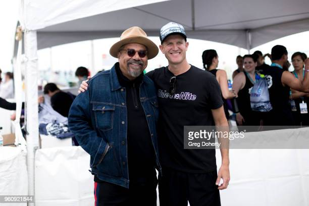 Comedian George Lopez and Tour de Pier CoFounder Keith Gregory attend the 6th Annual Tour de Pier at Manhattan Beach Pier on May 20 2018 in Manhattan...