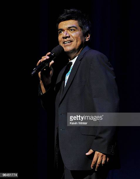 Comedian George Lopez appears onstage at Help Haiti with George Lopez Friends at LA Live's Nokia Theater on February 4 2010 in Los Angeles California