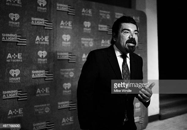 Comedian George Lopez attends AE Networks Shining A Light concert at The Shrine Auditorium on November 18 2015 in Los Angeles California