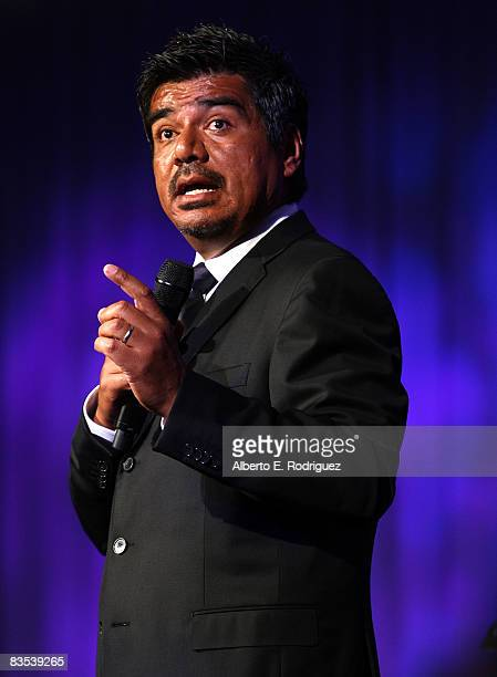 Comedian George Lopez performs at the Thalians' 53rd Annual Ball held at the Beverly Hilton Hotel on November 5 2008 in Beverly Hills California