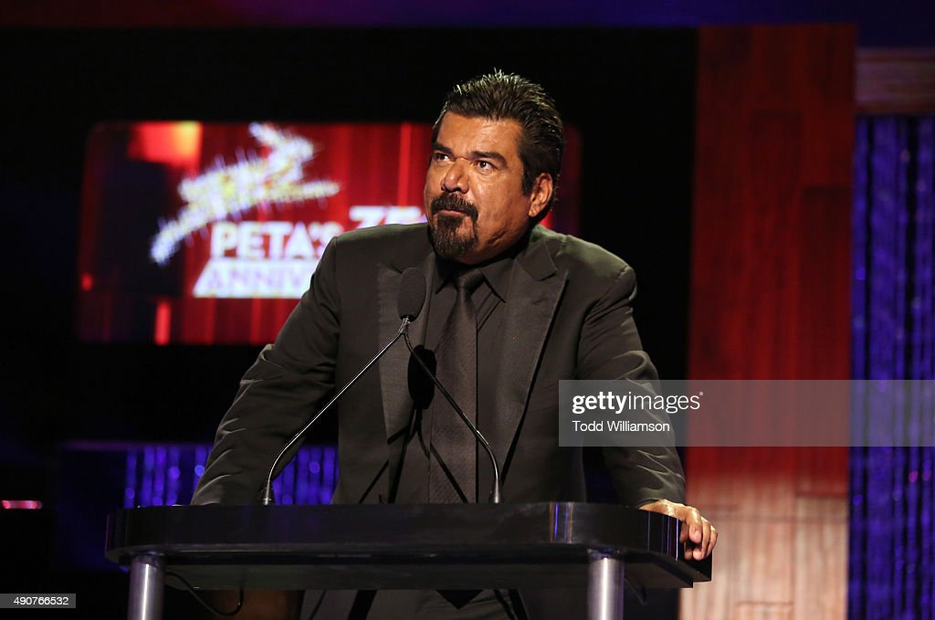 Comedian George Lopez speaks onstage at PETA's 35th Anniversary Party at Hollywood Palladium on September 30, 2015 in Los Angeles, California.