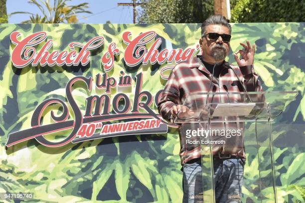 Comedian George Lopez speaks onstage at the Key to The City of West Hollywood Award Ceremony at The Roxy Theatre on April 16 2018 in West Hollywood...