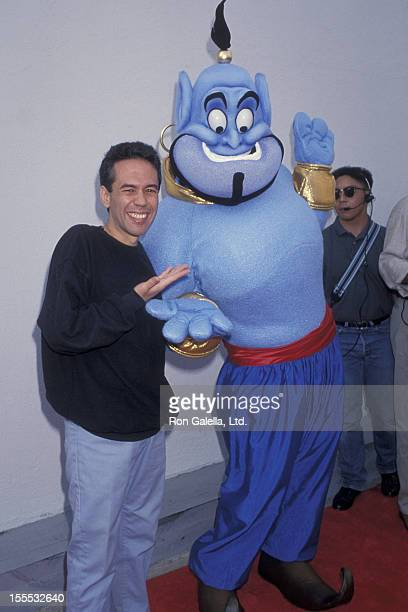 Comedian Gilbert Gottfried attends the premiere of Aladdin on November 8 1992 at El Capitan Theater in Hollywood California