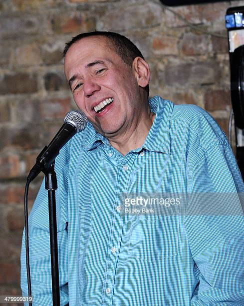 Comedian Gilbert Gottfried performs at The Stress Factory Comedy Club on March 21 2014 in New Brunswick New Jersey