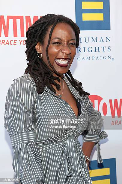 Comedian Gloria Bigelow arrives at Showtime's The Real L Word Season 2 premiere party at East West Lounge on June 1 2011 in West Hollywood California