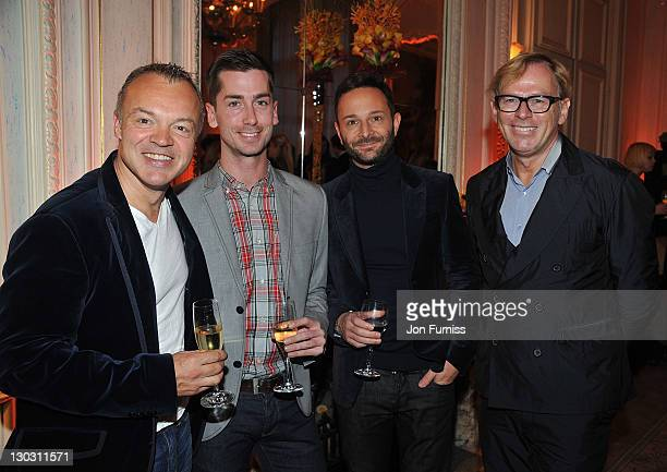Comedian Graham Norton and guests attend the after party for the screening of 'W.E.' at The 55th BFI London Film Festival at Claridges on October 23,...