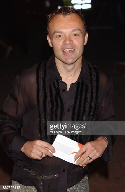 Comedian Graham Norton arriving for the 2001 MOBO music awards at the London Arena, in Docklands, London.