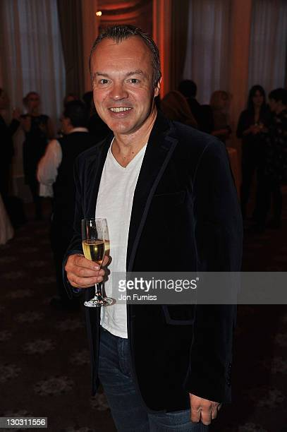 Comedian Graham Norton attends the after party for the screening of 'W.E.' at The 55th BFI London Film Festival at Claridges on October 23, 2011 in...