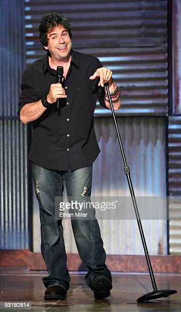 Comedian Greg Giraldo performs at the House of Blues inside the Mandalay Bay Resort & Casino July 3, 2005 in Las Vegas, Nevada. Comedy Central is...