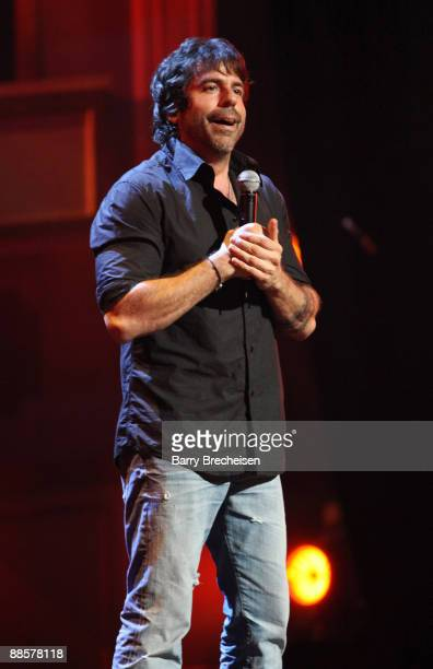 Comedian Greg Giraldo performs on stage at the Let Freedom Hum An Evening of Comedy hosted by Martin Short show during TBS presents A Very Funny...