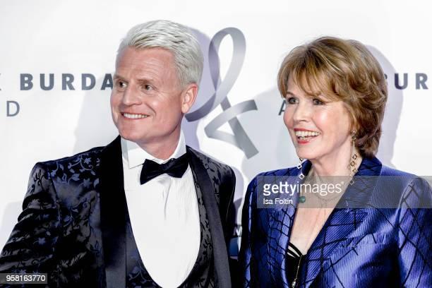 Comedian Guido Cantz and Christa Maar director Felix Burda Stiftung attend the Felix Burda Award at Hotel Adlon on May 13 2018 in Berlin Germany