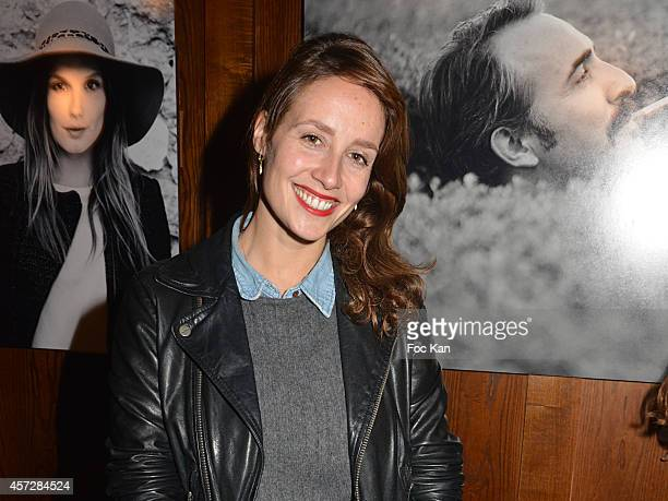Comedian Gwendolyn Gourvenec attends the Christophe Brachet And Factory Graff Design Exhibition Preview At Le Buddha Bar on October 15, 2014 in...