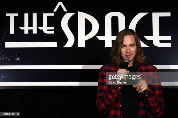 Comedian Halli Borgfjord performs his standup comedy routine at 'Louie Anderson Presents The After Show' at The Space on March 18 2017 in Las Vegas...