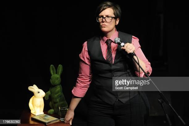 Comedian Hannah Gadsby performs at the Edinburgh Festival Fringe on August 16 2013 in Edinburgh Scotland